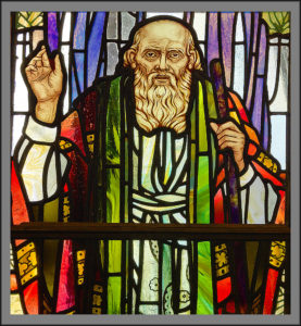 Stained-glass image of the prophet Samuel