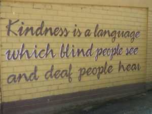Kindness is a language which blind people can see and deaf people can hear