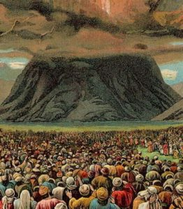 God's power shown at Mount Sinai