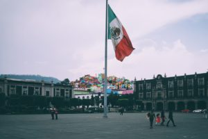 Flying Mexican Flag